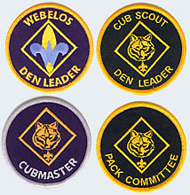 Cub Scout Leader Position Patches