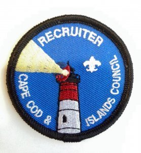 Recruit a new Scout to a Cape & Islands Unit and earn a Recruiter Patch!